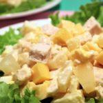 Салат с курицей и ананасом пошaговый рецепт приготовления