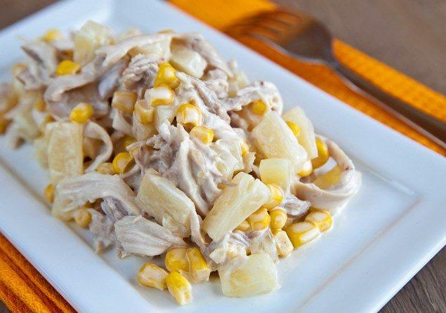 salat-s-kuricej-i-ananasom