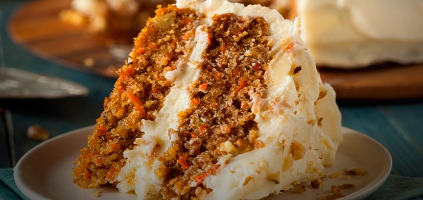 Морковный пирог с грецкими орехами и корицей