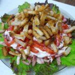 Салат с сухариками-7 пошаговых рецептов приготовления