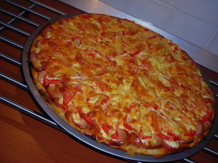 Рецепт пиццы в домашних условиях в духовке без помидоров 24
