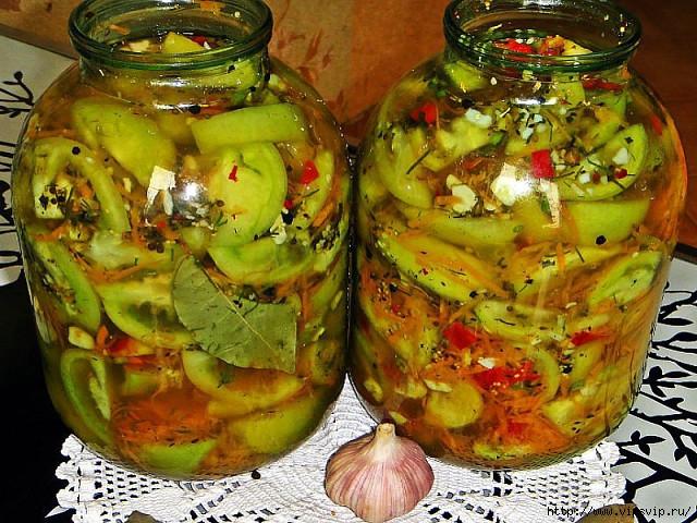 Салат из зеленых помидор на зиму 6 рецептов пальчики оближешь