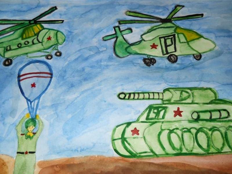Рисунок к 23 февраля для детского сада