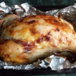 Запеченная курица в фольге в духовке целиком