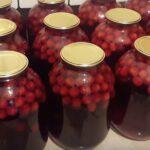Компот из вишни на зиму рецепты на 3-х литровую банку