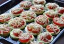 Как запечь кабачки в духовке с сыром помидорами и чесноком